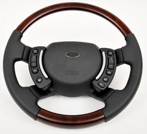 Range Rover L322 Steering Wheel - Burr Walnut Heated - Nappa Leather ( Non HEated ) Preview